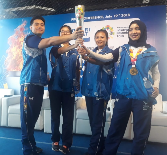 torch relay Asian Games 2018 dari Pocari Sweat